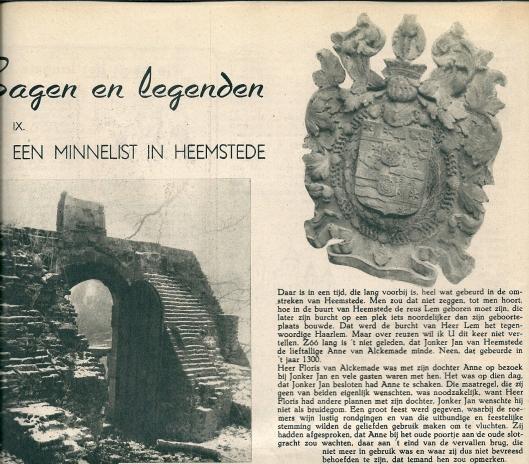 Een minnelist in Heemstede. Uit: De Week in Beeld, 2 mei 1941.