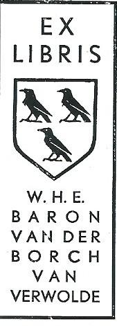 Exlibris van W.H.E. baron van der Borch van Verwolde