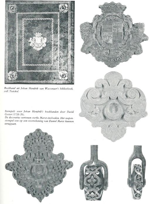 Boekbanden en stempels huisbibliotheek Twickel. Uit: H.W.M.van der Wyck, De Nederlandse buitenplaats. 1982, p.499.