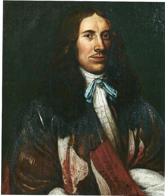 Johannes Thijsius (1622-1653) op een paneel van Jan de Vos