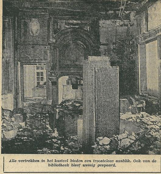 De ruimte waar voor 1971 de bibliotheek in asteel Nederhorst was gehuisvest