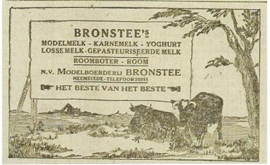 Advertentie van Bronstee uit 1925