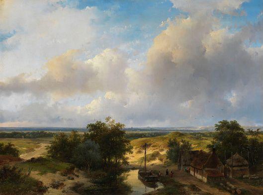 Nog een 'Haerlempje' van Andreas Schelfhout, 1845