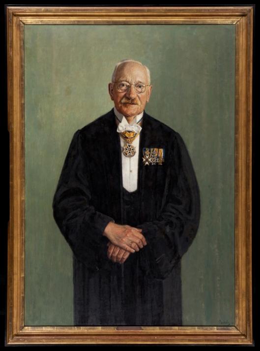 Portret van professor ir. J.A.G.van der Steur; door Reinier Sybrand Bakels, 1936 (Europeana)