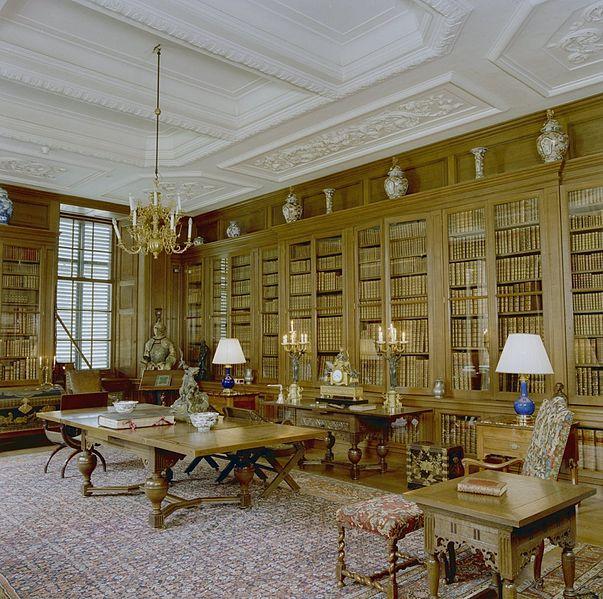 Bibliotheken in kastelen paleizen heren landhuizen en buitenplaatsen 1 librariana - Interieur bibliotheek ...