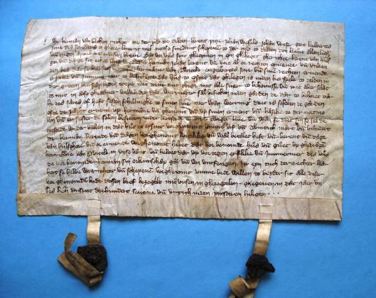 Het oudste archiefstuk van kasteel Twickel dateert uit 1347