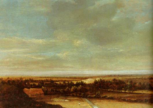 Duinlandschap met bleekveld door Jan Vermeer van Haarlem I