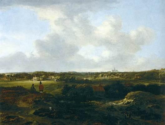 Jan Vermeer van Haarlem (1) Gezicht op Haarlem vanuit de duinen. 1660 (Thyssen-Bornemisza Museum)