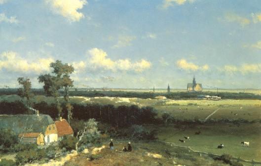J.H.Weissenbruch, Gezicht op Haarlem
