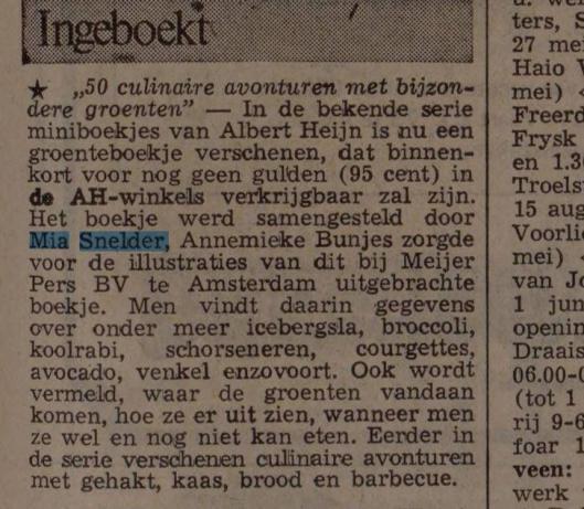 Uit: de Leeuwarder Courant van 12-5-1976