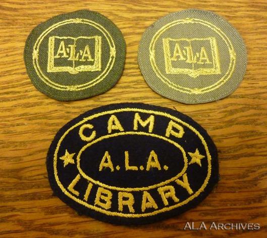 American Library Associaton war library service badge