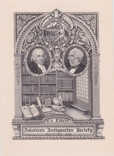 Bookplate American Antiquarian Society