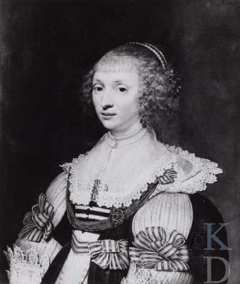 Anna van Lockhorst die in 1634 huwde met Nicolaas Pauw. Geschilderd door Jan van Ravesteyn. Tegenwoordig in het Louvre museum Parijs (foto RKD Den Haag)