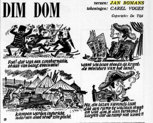 'Dim Dom', verzen Jan Bomans; tekeningen Carel Voges. Uit: De Tijd van 13-12-1955