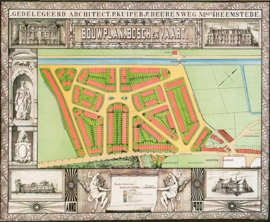 Bebouwingsplan Bosch en vaart door P.Kuiper Jr. (foto Erik Verhagen)