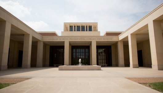 Ontwerp George W.Bush Presidential Library and Myseum op campus van Southern Methodist University, University park, Texas