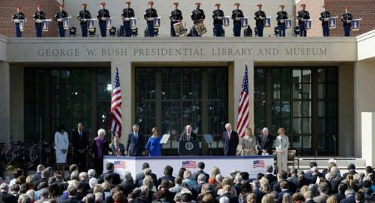 Opening van de George W.Bush Library op 25 april 2013