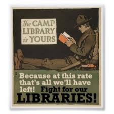 Poster: The camp library is yours