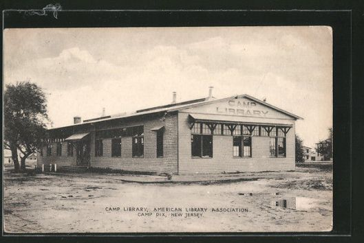 Soldiers library in Camp Dux, New Jersey