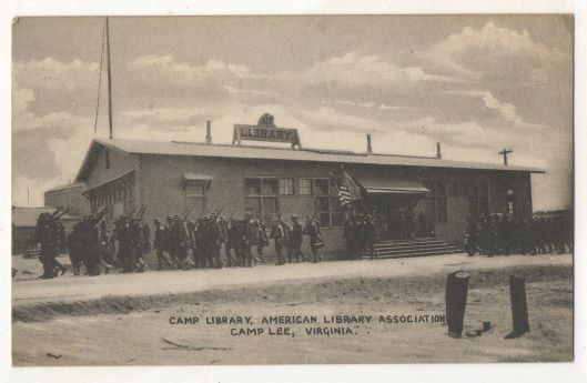 Soldiers library in Camp Lee, Virginia