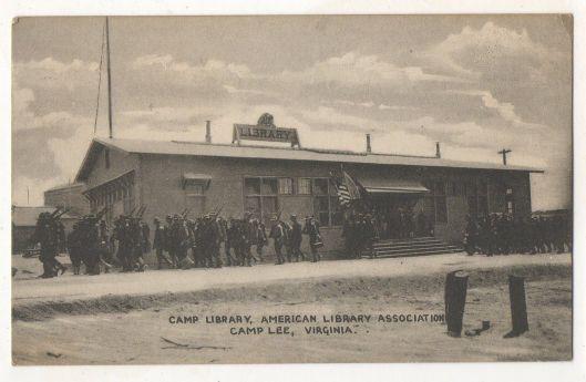 Soldiers library in Camp Lee, Virginia