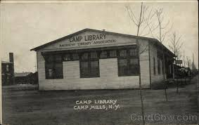 Soldiers camp library Camp Mills, New York