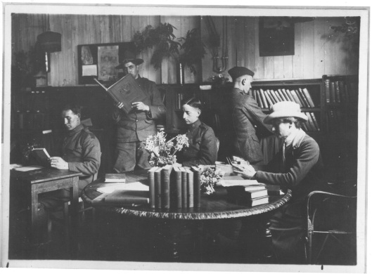 Reading room war library service ALA in France during World War I, 1914-1918