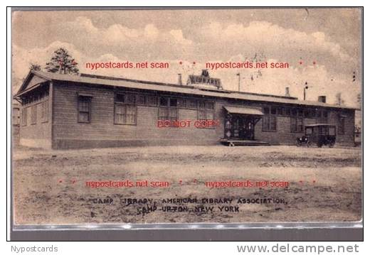 Soldiers camp library Upton, New York