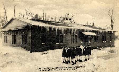 Camp Perry, library at the Great Lakes Naval Training Station in Illinois