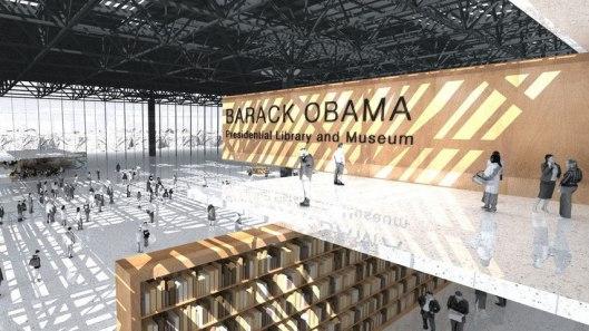 Ontwerp voor president Obama library and museum bij de Uiversiteit van Chicago