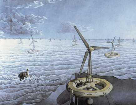 Illustratie van duurzame energie uit Eldorica van Jurriaan Andriessen
