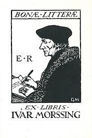 Exlibris van de Zweedse advocaat Ivar Morssing