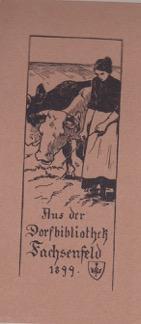Exlibris Fachsenfeld, 1899