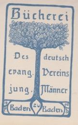 Bücherei der Deutsch evang. Vereins für Jung. Männer, Baden Baden