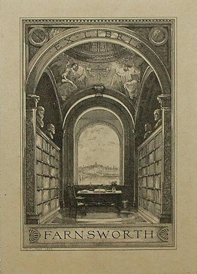 Bookplate Farnworth Institute, about 1920