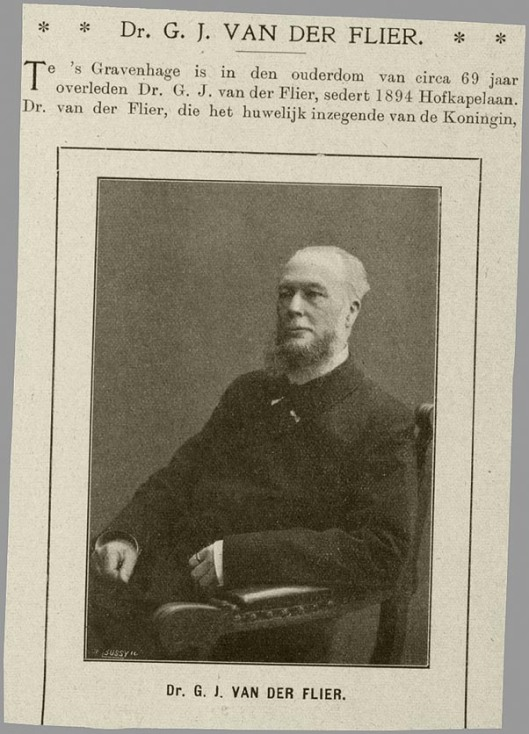 Predikant G.J.van der Flier