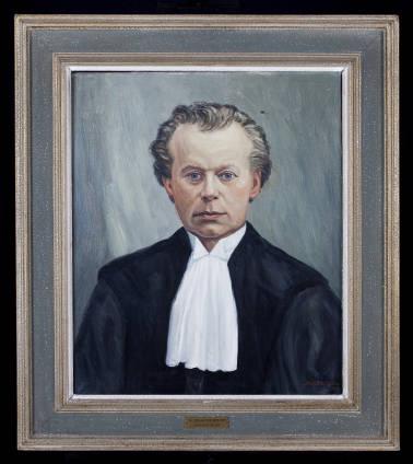 Geschilderd portret door Jac.Eriks van professor dr. A.H.de Hartog (1837-1895), hoogleraar theologie en bibliothecaris van de Vrije Universiteit