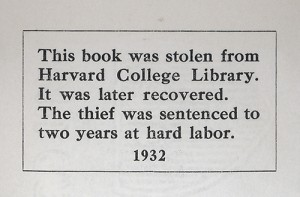 Harvard College Library (Confessions of a Bookplate Junkie)
