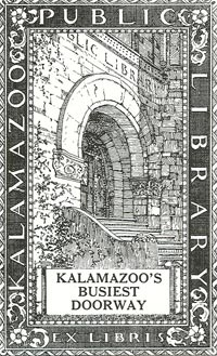 ex libris Kalamazoo public library, USA