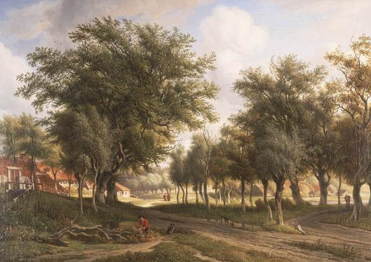 Landschap bij Heemstede; schilderij door A.J.Eymer (1803-1863 (Teylers Museum)