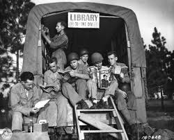 31st Division Mobile Library at Camp Pol, Louisiana. 1943