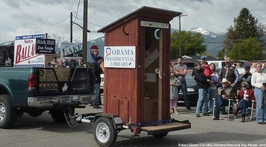De Obama Presidenrial Library in 2012 'verbeeld' in Montana (foto Darin Epperly)