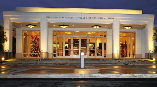 De Presidential Richard Nixon Library and Museum in Yorba Linda, Californië