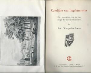 Titelblad van 'Catalijne van Ingelmunster' door Sini Greup-Roldanus