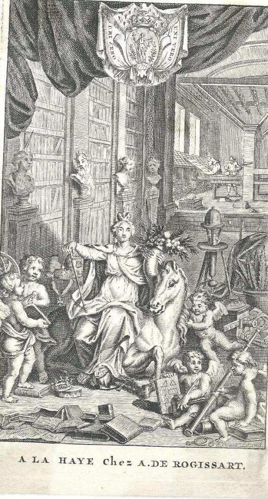 Titelgravure van B.Picart (La Haye, A.de Rogissart), 1713