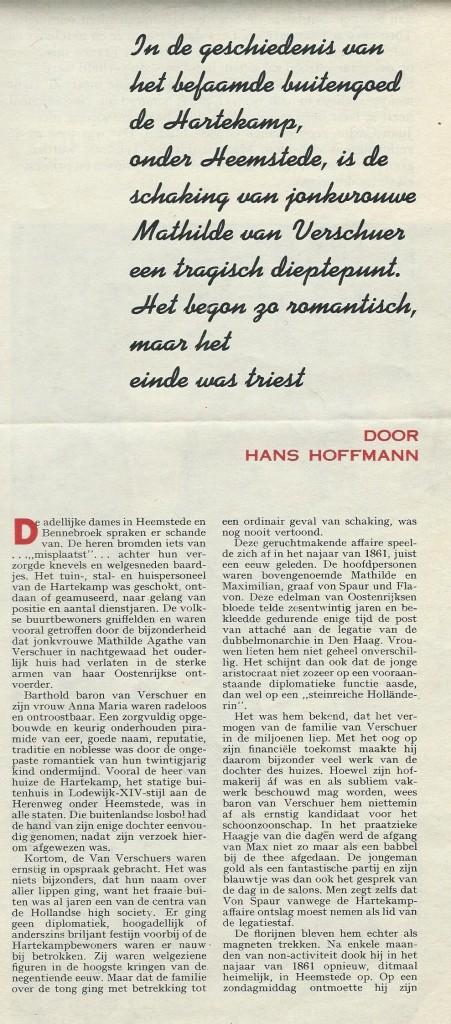 Ontvoering De Hartekamp (1) Uit: Panorama, 7-10-1961