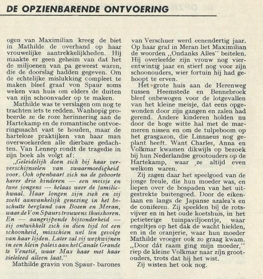 Ontvoering op de Hartekamp (slot). Uit: Panorama, 7-10-1961