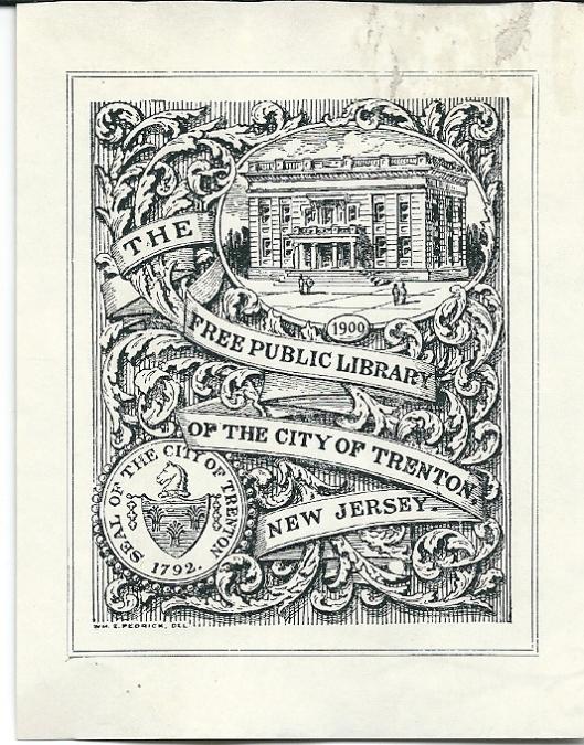 Exlibris van Free Public Library Trenton, New Yersey, USA