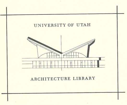 Bookplate University of Utah Architecture Library