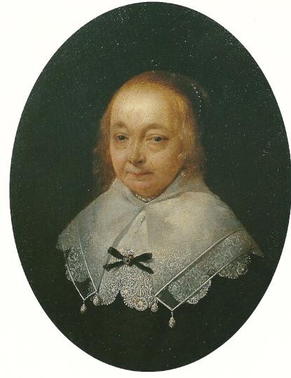Portret door Gerard ter Borgh van Anna van Ruytenburgh (particuliere collectie, in bruikleen aan Frans Hals Museum Haarlem)